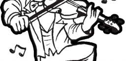 Leprechaun Playing Music Dancing And Fiddling A Violin For St Patricks Day Coloring Page