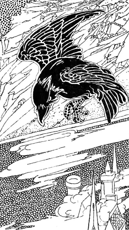 black crow coloring page