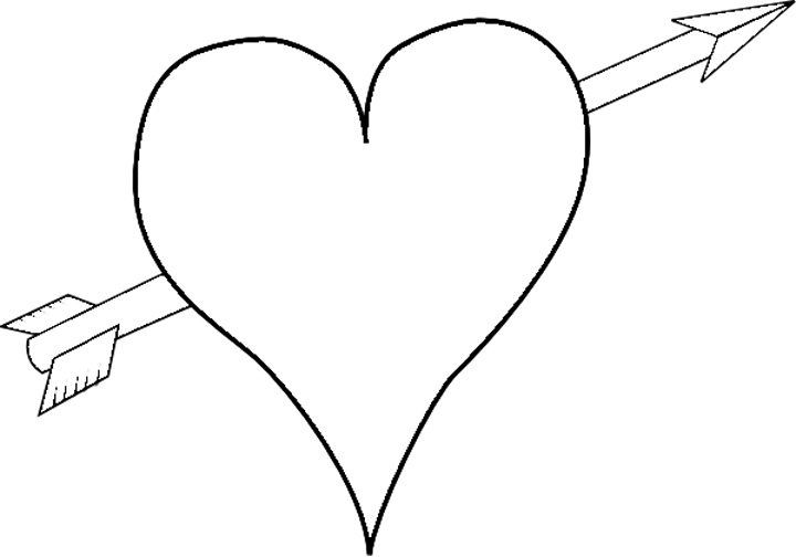 Heart With Arrow Through It Coloring Pages - lekton.info