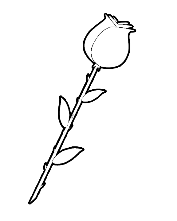 coloring pages of hearts and flowers. Long Stem Rose Coloring Book