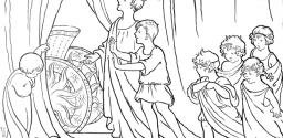 Apollo Shows Phaeton the Sun Chariot – Roman Children Coloring Page