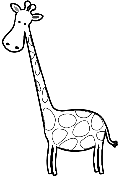 Cartoon Giraffes Coloring Page Printable
