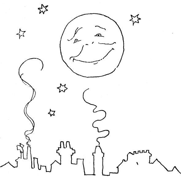 moon and stars coloring coloring pages - Coloring Pages Stars Moons