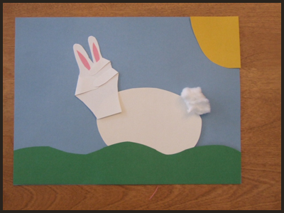 5- handprint easter bunny craft for kids