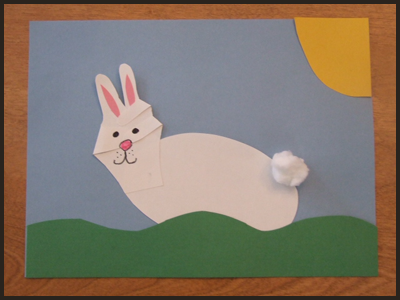 6-handprint easter bunny craft for kids