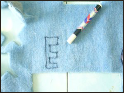 Trace the Alphabet Letters on the Felt for Alphabet Letters Tactile Guessing Game Craft