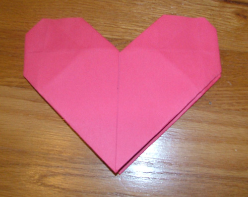 Origami Heart Finished This Is An Easy Paperfolding Craft