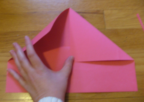 origami heart step two