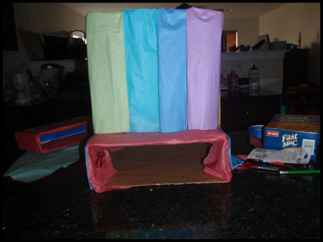 Cover / Wrap Your Boxes with Colored Paper