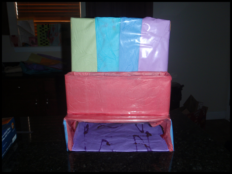 Cover with Contact Paper - Homework Organization Craft to Hold School work