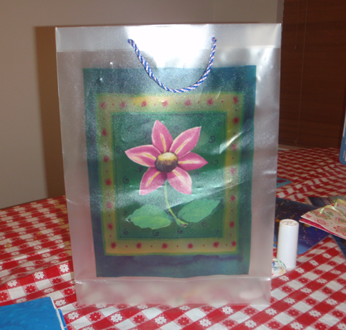 How to make a school book cover out of a decorated gift bag kids how to make a school book cover out of a decorated gift bag negle Gallery