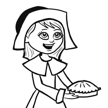 also learn how to draw a pilgrim girl with step by step lesson