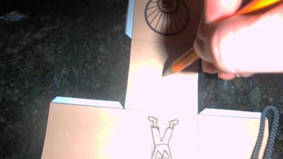 Cut Out Put Pencil Through Hole Thanksgiving 3D Tic-Tac-Toe Games Paper Pilgrims Turkeys Paper Model