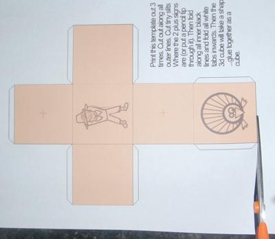 Cut Out Thanksgiving 3D Tic-Tac-Toe Games Paper Pilgrims Turkeys Paper Model