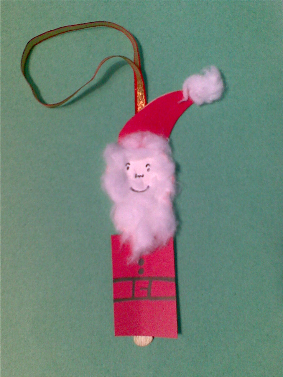 Making Popsicle Stick Santa Clause Christmas Tree