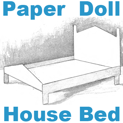 Make A Paper Doll House Bed Foldable Crafts For Kids
