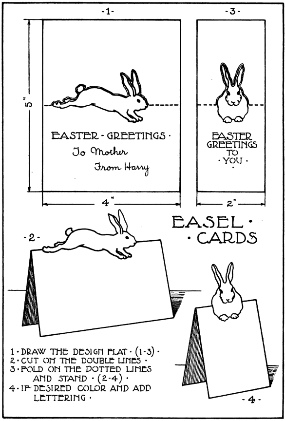 Free Printable Easter Bunny Cards