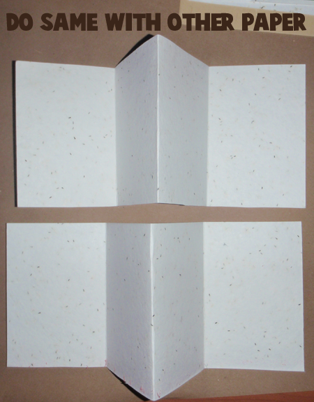 Step 06 : How to Make Accordion Folding Pocketed Memory Book for New Years Craft for Kids