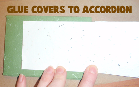 Glue Covers to Accordion