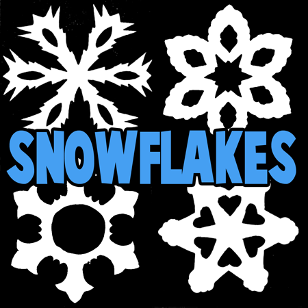 How to Make 6 Pointed Snowflakes and Stars Step by Step Craft for Kids