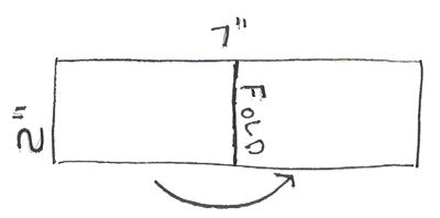 fold paper in half