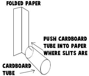 Step 3 : Making Toilet Paper Roll Log Cabin Craft for Kids