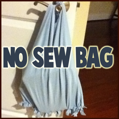 How to Make No-Sew Tote Bag Craft from Recycled Old T ...