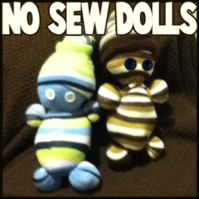 Craft Ideas Buttons on Sew Dolls Step How To Make Easy No Sew Sock Dolls Crafts Idea For Kids