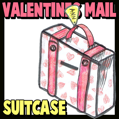 How to Make Valentine's Day Suitcase Mailbox Craft Idea for Kids