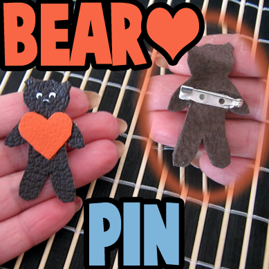 How to make a Valentine Gift Box with a Bear Heart Brooch Pin - Part 1