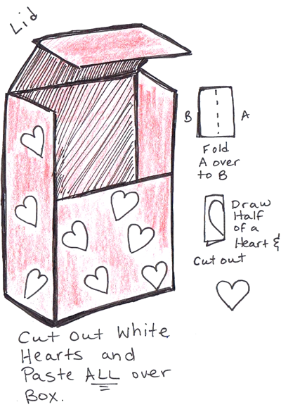 Step 4 : Making Valentines Day Mail Box Backpack Craft For Kids
