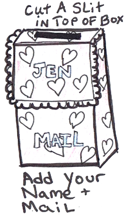 Step 6 : Making Valentines Day mail box backpack craft for kids