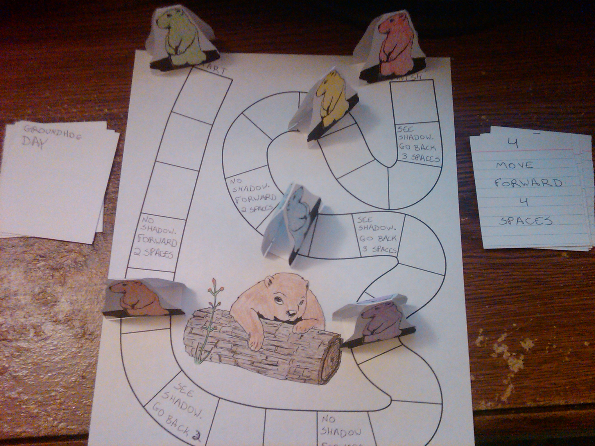 Make A Groundhogs Day Board Game Crafts Idea For Kids Kids Crafts