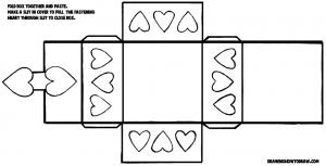 Valentines Day Hearts box-pattern-8x14
