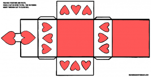 Valentines Day Hearts box-pattern-color-11x17