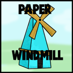 how to make a paper spinning wheel out of paper