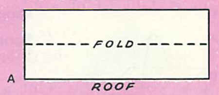 For the roof, measure a piece of cardboard two inches longer than the width of the house.