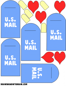 Mailbox Valentines Day Cards Arts and crafts Activity for Kids