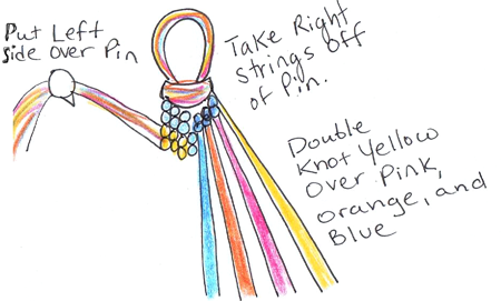 Step 24 : How to Make Friendship Bracelets Tutorial with Pictures
