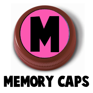 Making an Alphabet Letters Memory Game from Milk Jug Caps