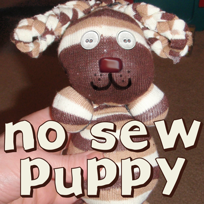 ... to Make No Sew Stuffed Puppy Dog Animal Toy with Socks & Rubber Bands