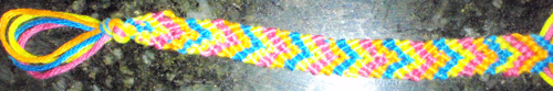 How to Make V Shaped Arrows Friendship Bracelets Illustrated Instructions