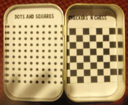 Making Magnetic Chess Checkers and Dots and Squares Game Boards