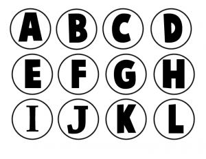 Black and White Milk Bottles Caps Letters