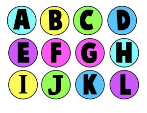 Colorized Milk Bottle Caps Letters