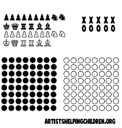 Zany image for game pieces printable