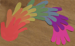 How To Make Hand Print Rainbows for St. Patrick's Day Preschooler Activity