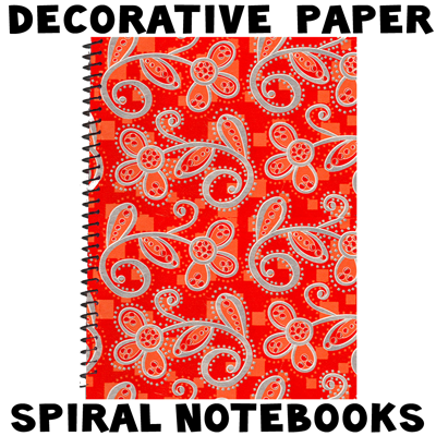 Decorating spiral notebooks with decorative paper for back for Back to school notebook decoration ideas