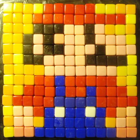 How to Make a Mosaic Super Mario Pixelated Picture from Tiles