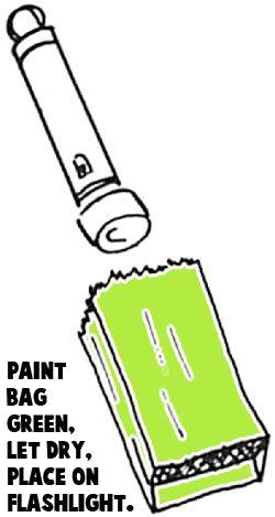 Paint a lunch bag green